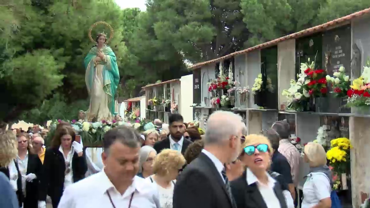 Histórica y emotiva la visita extraordinaria de la Purísima al Cementerio - torreviejaip.tv